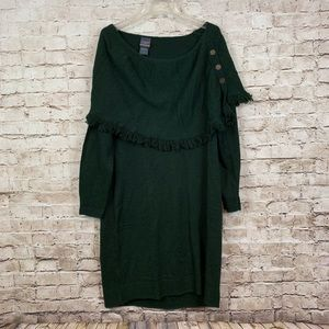Torrid Outlander Forest Green Sweater Dress